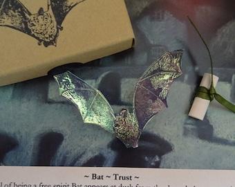 Bat Brooch ~  Iridescent