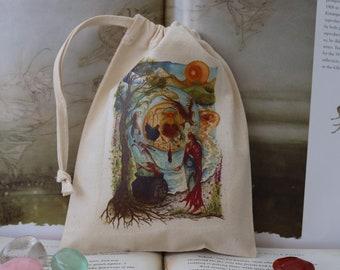 Cerridwen's Spell Tarot Card Bag/Crystal Pouch