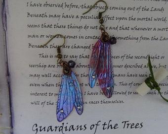 Dragonfly Wing Earrings ~ Sugarplum