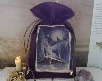 Moonlight Wish Tarot Card Bag ~ Hemp/Organic Cotton Sustainable Fabric