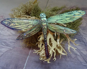 Shimmering Dragonfly Brooch ~ Iridescent