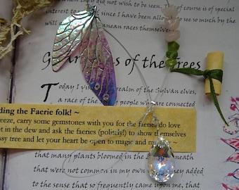 Swarovski Crystal & Gemstone Magical Fairy Wing Suncatcher