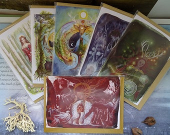 Celtic Goddess Pack of 6 Art Cards