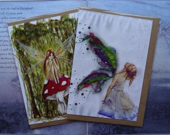 Fairies pack of 2 A5 Art Cards