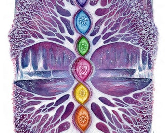 The Crystal Tree ~ Signed A3 Art Print