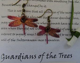 Dragonfly Earrings ~ Flame