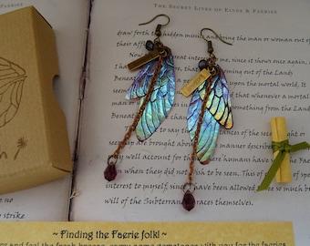 Magical Crystal Drop Fairy Wing Earrings ~ Sugarplum