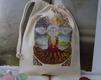 World Tree Tarot Card Bag/ Crystal Pouch