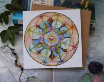 Lifeline Mandala Square Notelet
