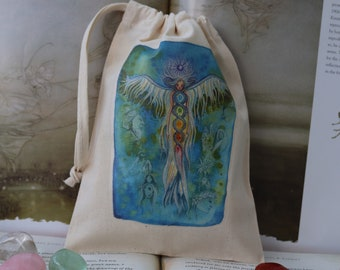 Transformations Tarot Card Bag/ Crystal Pouch