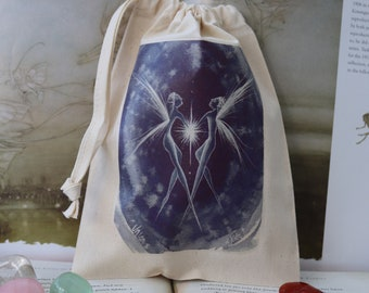 The Union Tarot Card Bag/ Crystal Pouch
