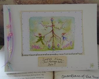 Special Personalised Wedding Card ~ A Bun Dance!
