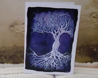 Amethyst Tree Art Card