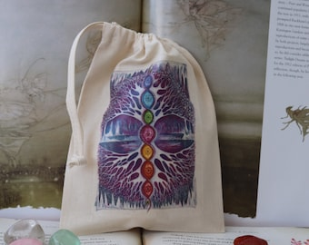 The Crystal Tree Tarot Card Bag/ Crystal Pouch