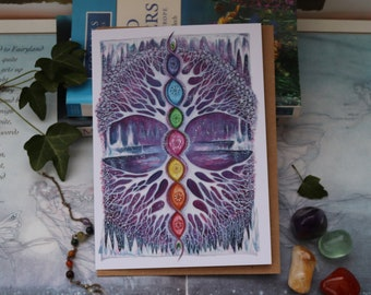 The Crystal Tree Greeting Card