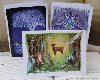 Magical Forest Art Cards ~ Set of 3