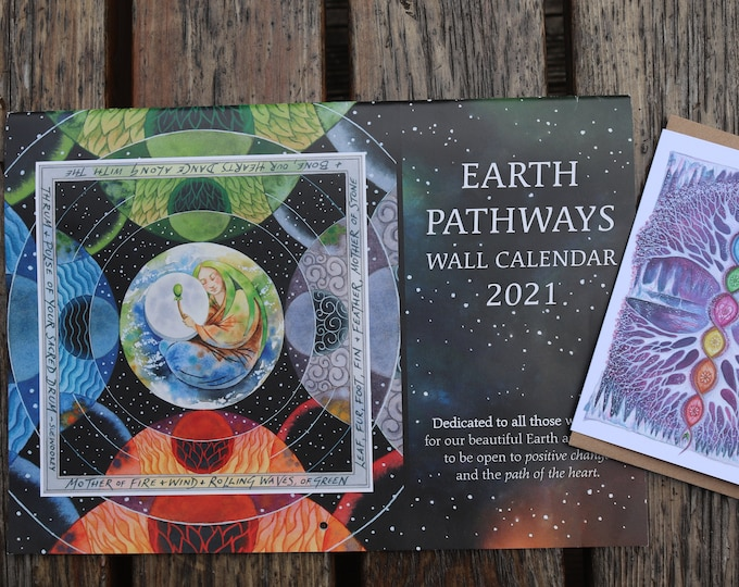 Featured listing image: Earth Pathways Wall Calendar 2021 & Crystal Tree Art Card Set