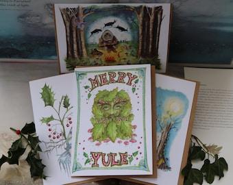 Set of 4 Christmas/Yule Cards