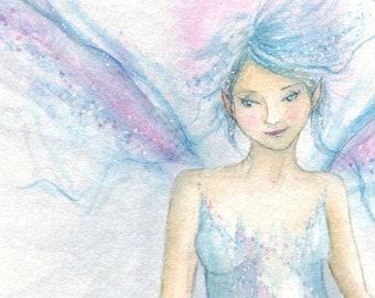 Flight ~ Original Watercolour Painting, faerie Art, Fairy Art, Original Art
