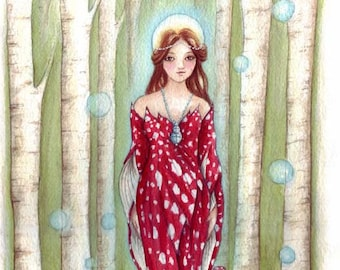 Brighid's Wood Small Goddess Art Print