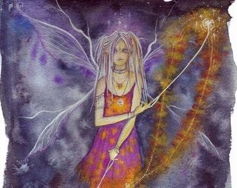 Fire Girl A4 Art Print