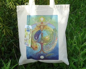 Deer Medicine Cotton Eco Tote Bag