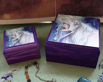 Lighting the Way Jewellery Box ~ Set of 2 Stackable Boxes