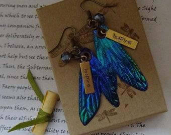 Pretty Dragonfly Wing Earrings