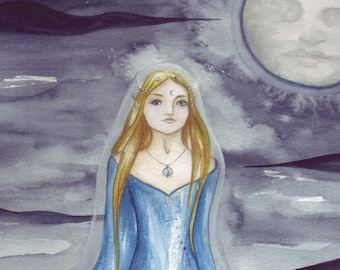 Lady of Avalon ~ Original Watercolour Painting
