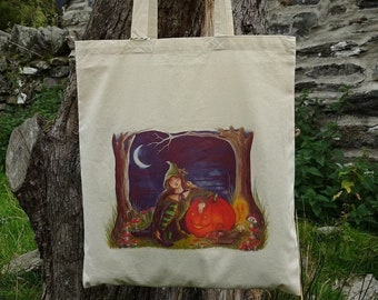Into The Woods ~ Cotton Eco Tote Bag