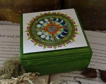 Wood Wide Web Jewellery Box