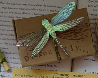 Magical Dragonfly Hairpin ~ Iridescent