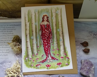 Brighid's Wood Art Card