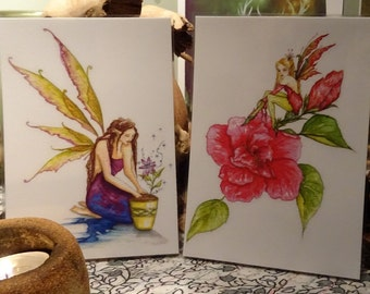 Mini laminated Print Set ~ Fairy Season's