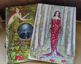 Goddess Notebook Set ~ Set of 2 A5 Notebooks
