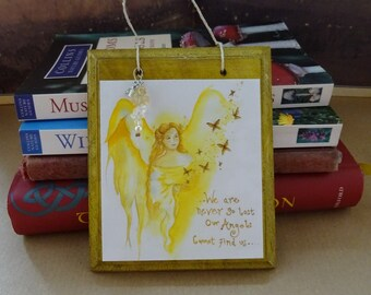 Angel Blessings ~ Hanging Gemstone Plaque