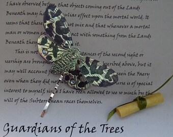 Magical Moth Hairpin ~ Iridescent