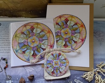 Lifeline Mandala~ Notebook, Card, Pocket Mirror Gift Set