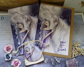 Follow Your Dreams Gift Set ~ Notebook, Card & Pocket Mirror