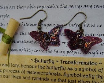 Summer Flame Butterfly Earrings