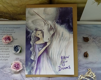 Follow your Dreams A5 Art Card