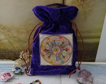 Lifeline Mandala Tarot Card Bag
