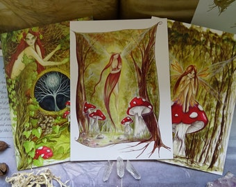 Woodland Art Cards ~ Pack of 3