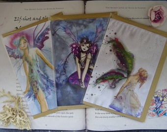 Birthday Fairies! ~ Pack of 3 Art Cards