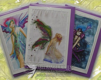 Fairy Birthday Handmade Glitter Card Pack