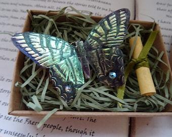 Butterfly Brooch ~ Shimmering Iridescent