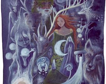 The Silver Wheel A4 Art Print