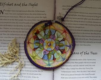 Mandala Art Wooden Chakra Gemstone Decoration