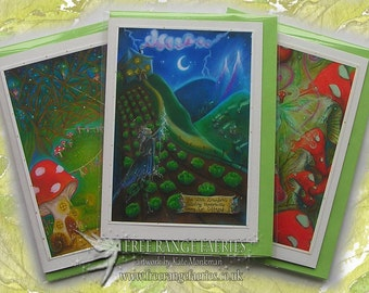 Fairyland Handmade Glitter Card Pack