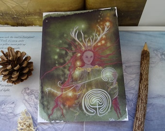 Elen of the ways ~ Path Weaver Goddess A5 Notebook